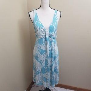 Tommy Bahama V-Neck Open Back Floral Dress Medium